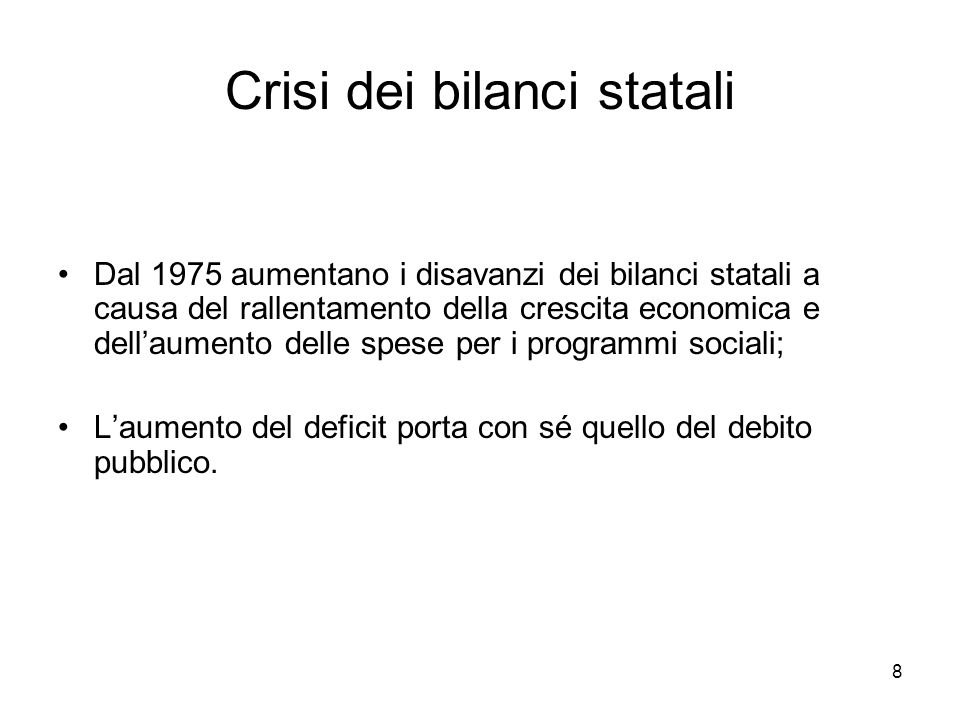 Crisi dei bilanci statali