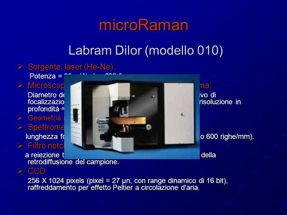 microRaman Labram Dilor (modello 010)