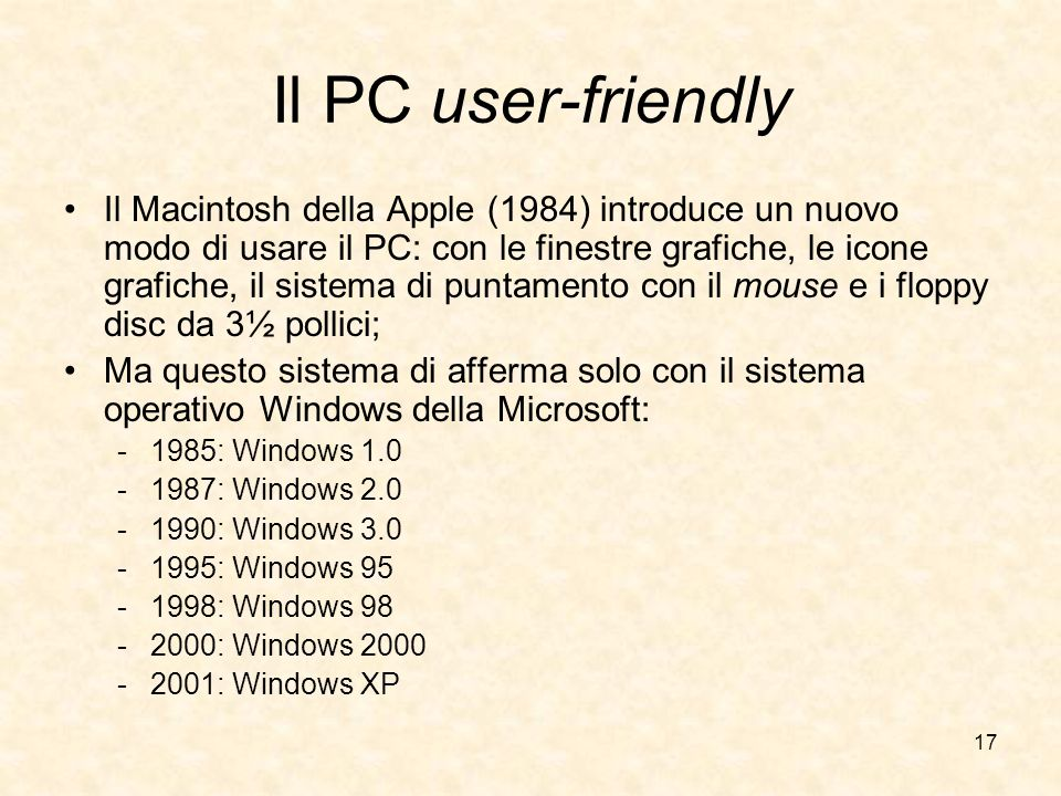 Il PC user-friendly