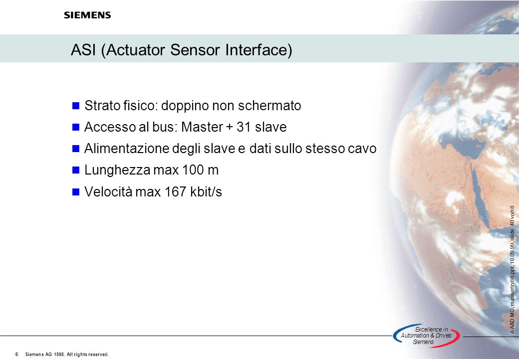 ASI (Actuator Sensor Interface)