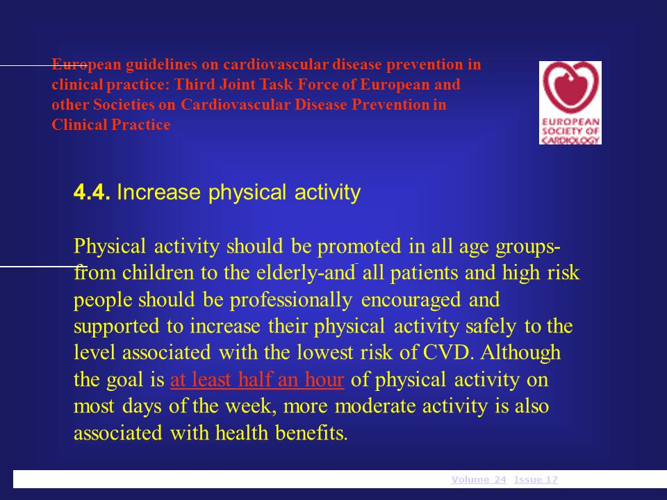 4.4. Increase physical activity