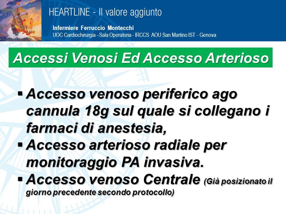Accessi Venosi Ed Accesso Arterioso