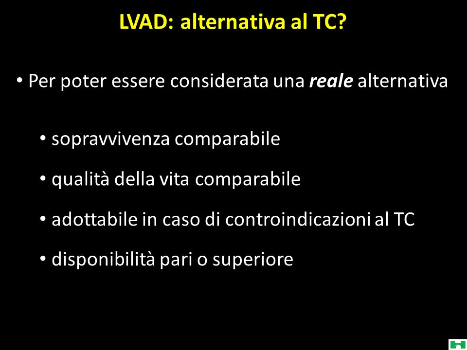 LVAD: alternativa al TC