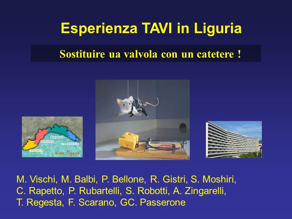 Esperienza TAVI in Liguria Sostituire ua valvola con un catetere !