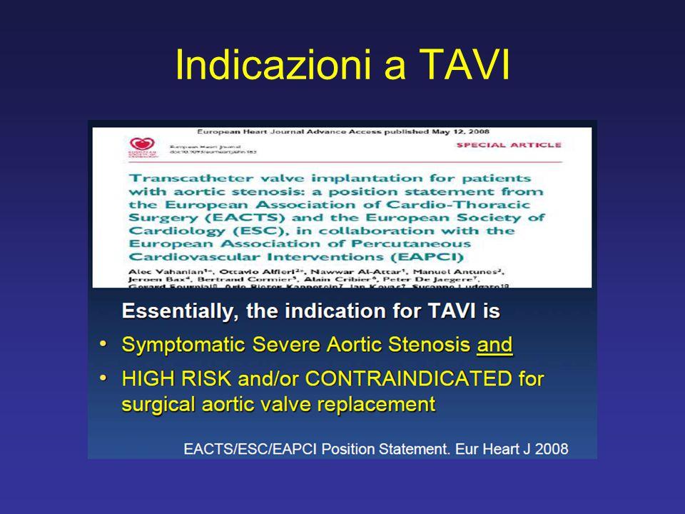 Indicazioni a TAVI