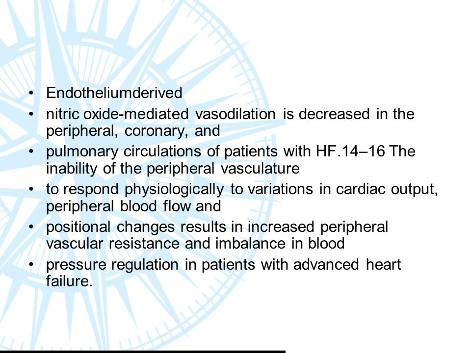 Endotheliumderived nitric oxide-mediated vasodilation is decreased in the peripheral, coronary, and.