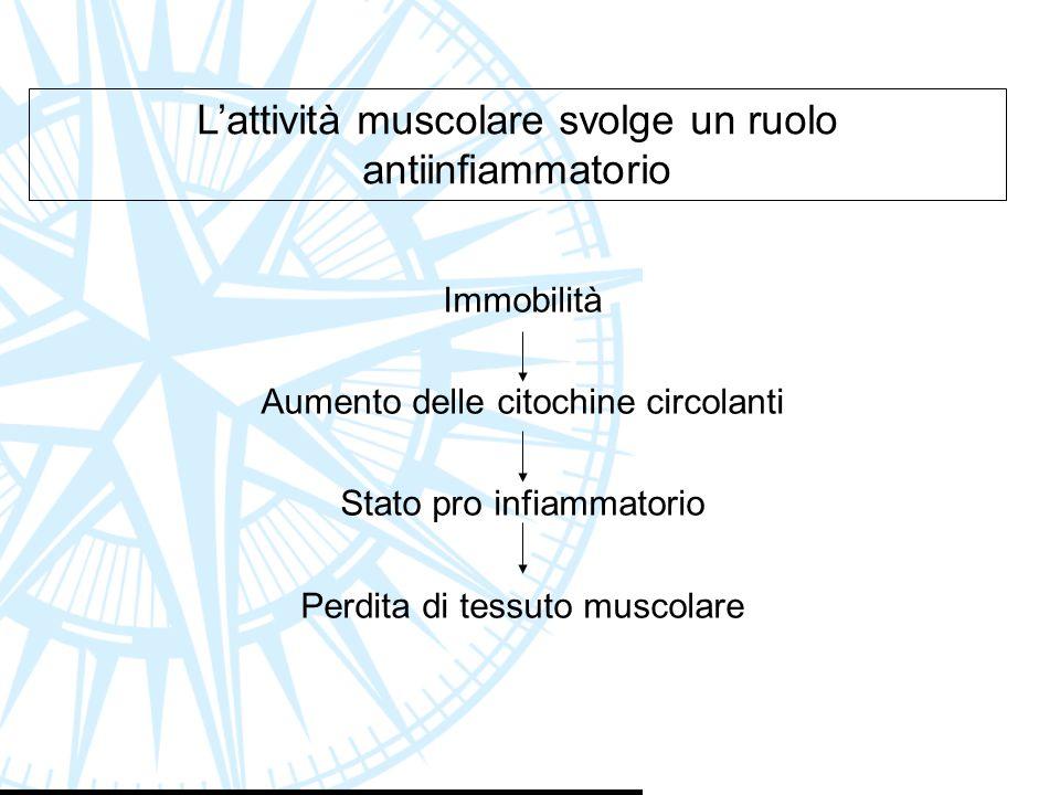 L'attività muscolare svolge un ruolo antiinfiammatorio
