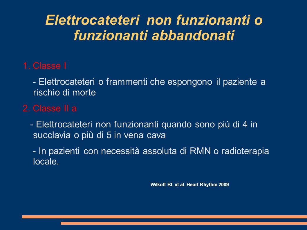Elettrocateteri non funzionanti o funzionanti abbandonati