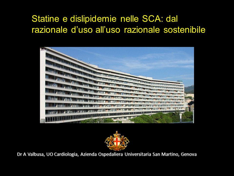 Statine e dislipidemie nelle SCA: dal razionale d'uso all'uso razionale sostenibile