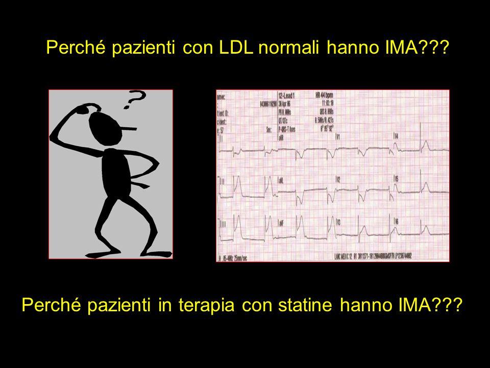Perché pazienti con LDL normali hanno IMA