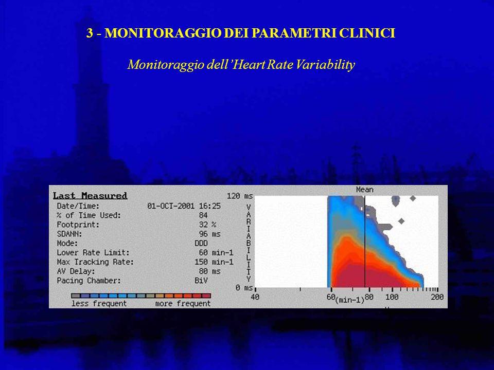 3 - MONITORAGGIO DEI PARAMETRI CLINICI