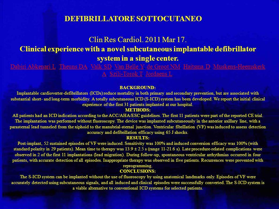 DEFIBRILLATORE SOTTOCUTANEO
