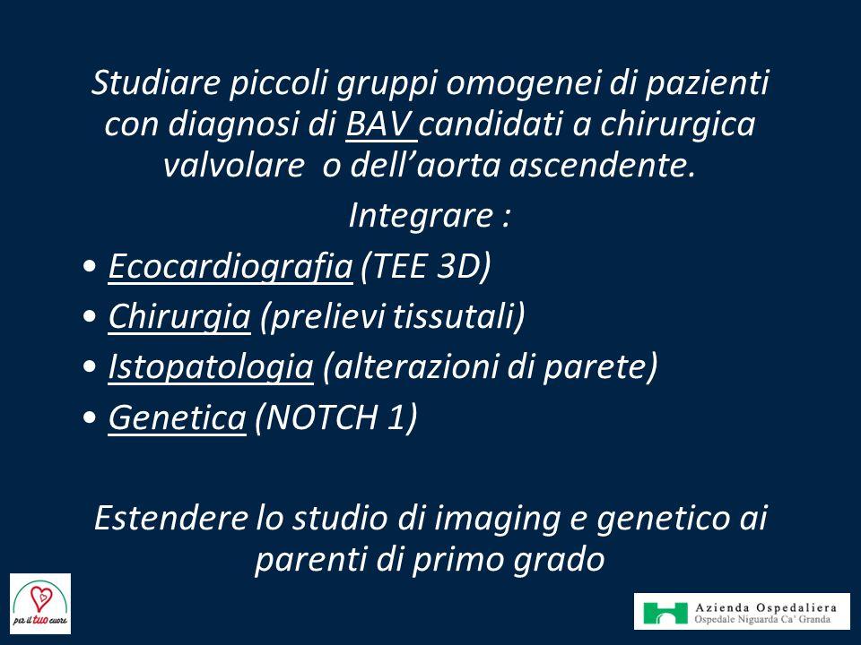 Estendere lo studio di imaging e genetico ai parenti di primo grado