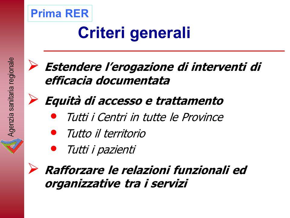 Criteri generali Prima RER