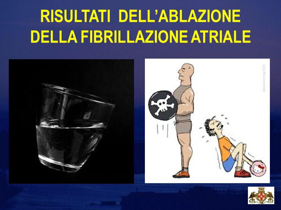 RISULTATI DELL'ABLAZIONE DELLA FIBRILLAZIONE ATRIALE