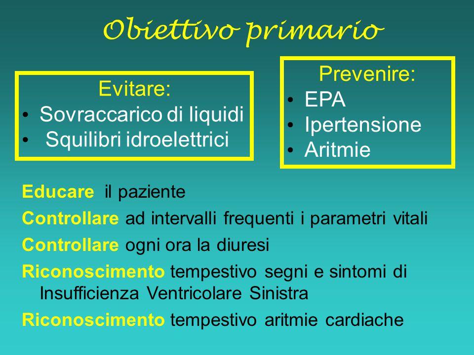 Obiettivo primario Prevenire: EPA Evitare: Ipertensione