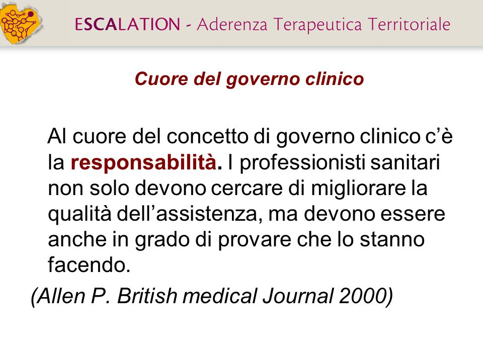 Cuore del governo clinico