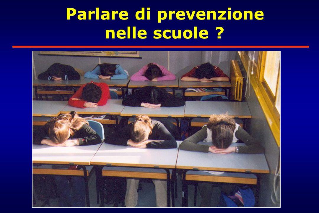 Parlare di prevenzione nelle scuole