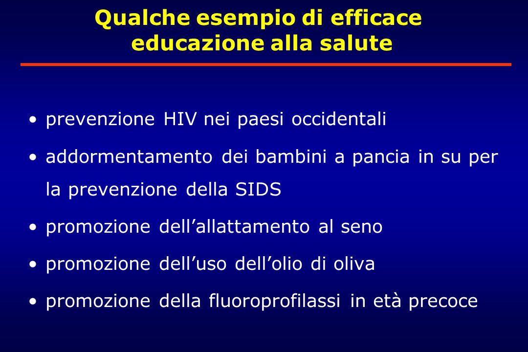 Qualche esempio di efficace educazione alla salute