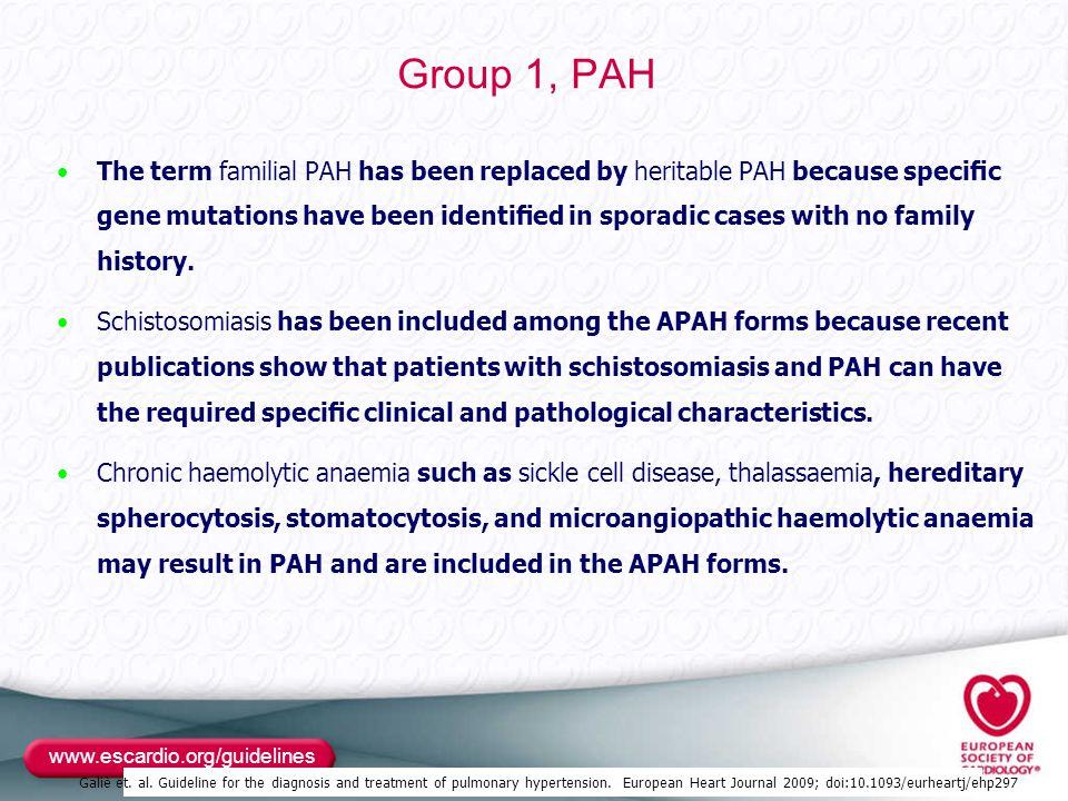 Group 1, PAH