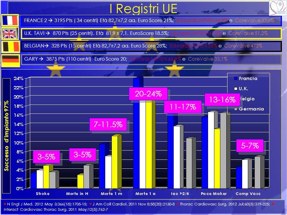 I Registri UE 20-24% 13-16% 11-17% 7-11.5% 5-7% 3-5% 3-5%