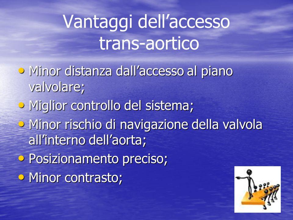 Vantaggi dell'accesso trans-aortico