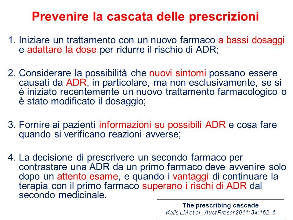 Prevenire la cascata delle prescrizioni