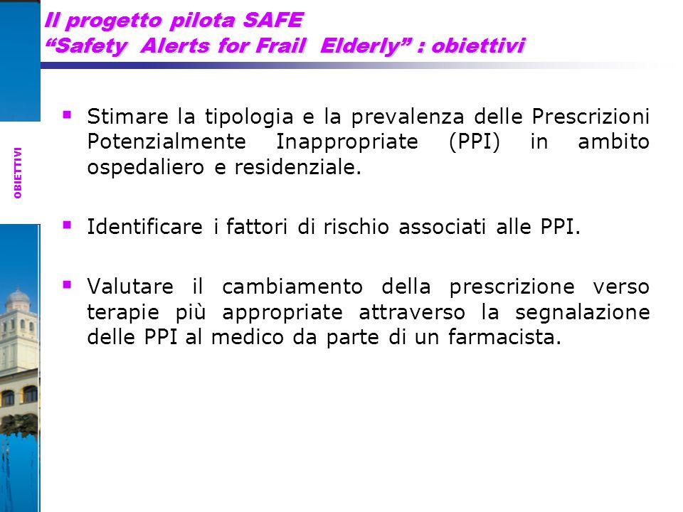 Il progetto pilota SAFE Safety Alerts for Frail Elderly : obiettivi