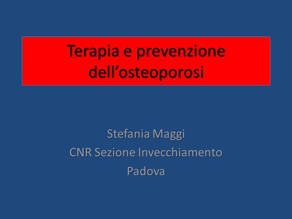 Terapia e prevenzione dell'osteoporosi