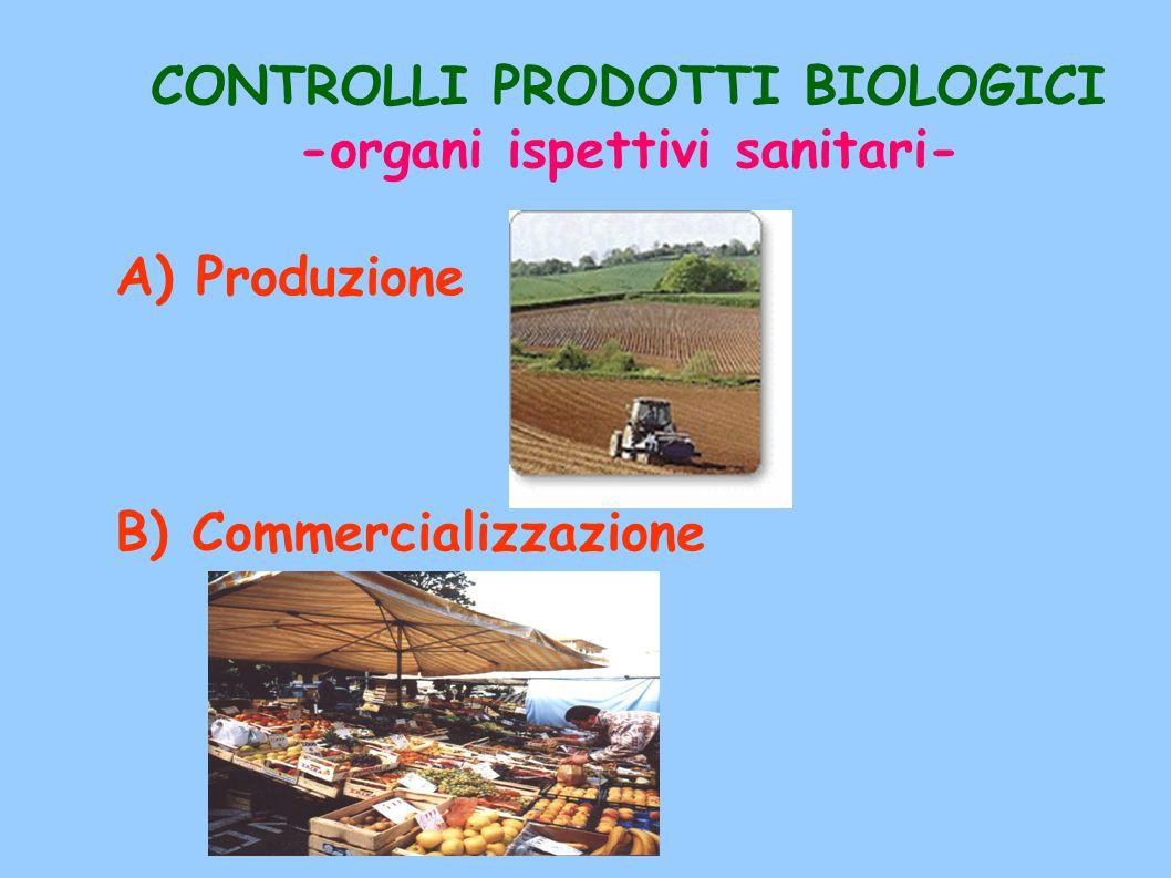 CONTROLLI PRODOTTI BIOLOGICI -organi ispettivi sanitari-