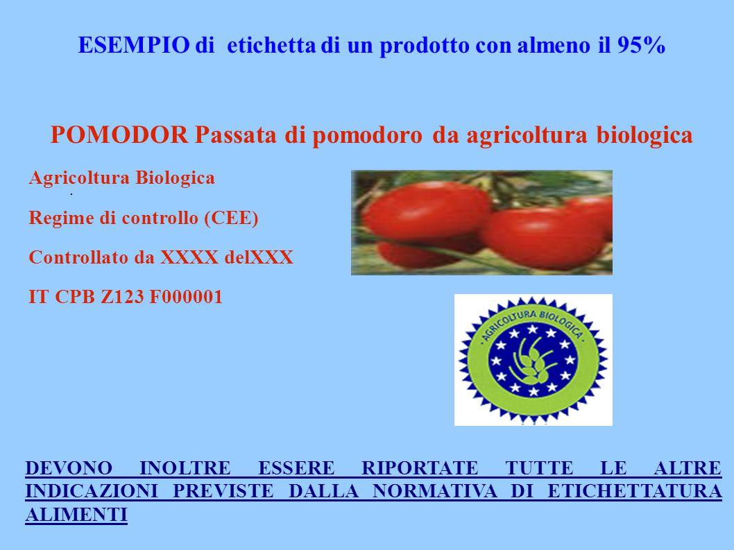 POMODOR Passata di pomodoro da agricoltura biologica