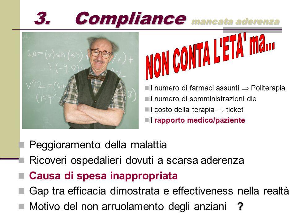 3. Compliance mancata aderenza