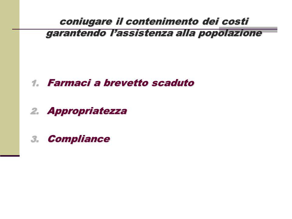coniugare il contenimento dei costi garantendo l'assistenza alla popolazione