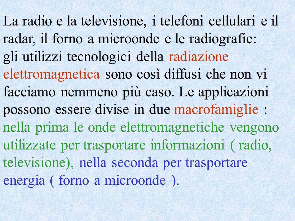 La radio e la televisione, i telefoni cellulari e il radar, il forno a microonde e le radiografie: