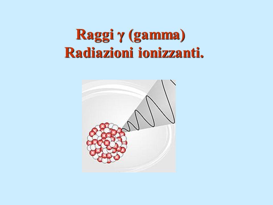 Raggi γ (gamma) Radiazioni ionizzanti.