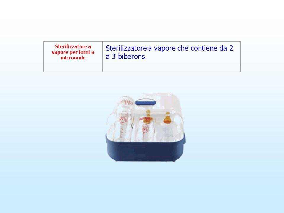 Sterilizzatore a vapore per forni a microonde