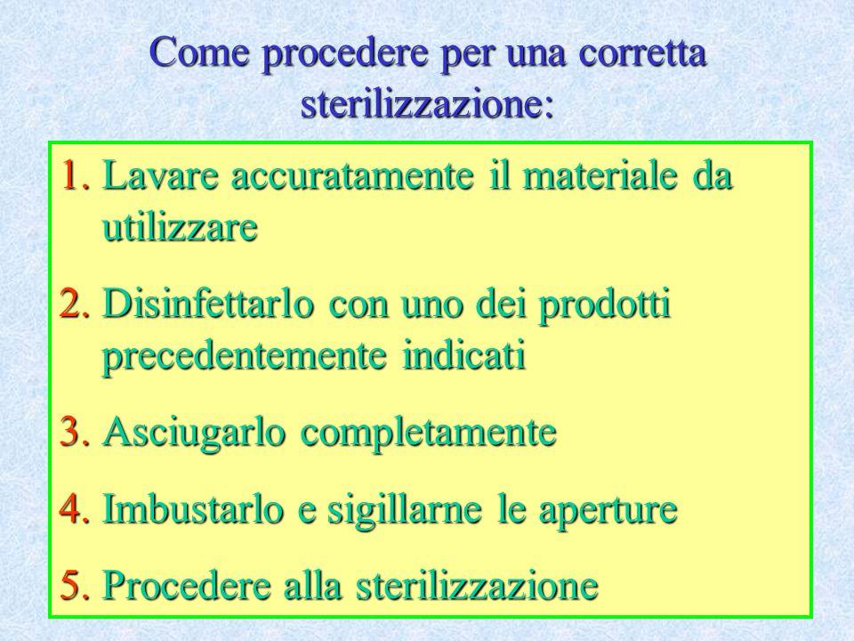 Come procedere per una corretta sterilizzazione: