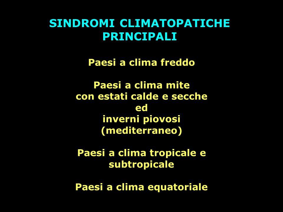 SINDROMI CLIMATOPATICHE PRINCIPALI