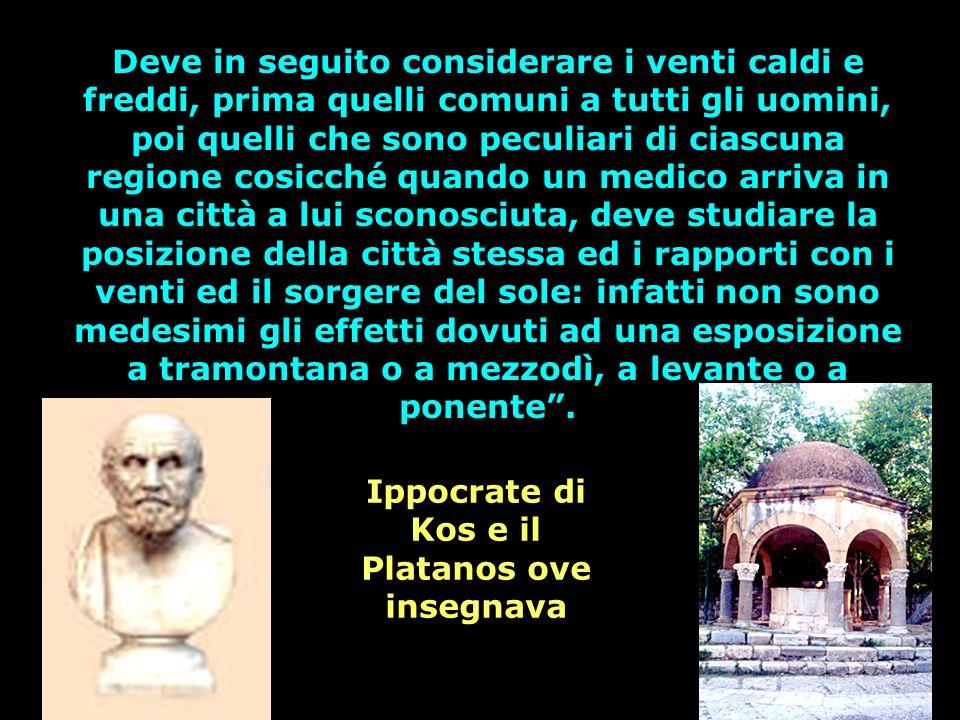 Ippocrate di Kos e il Platanos ove insegnava