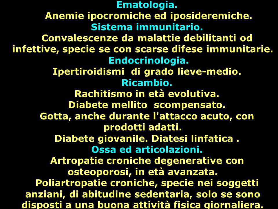 Anemie ipocromiche ed iposideremiche. Sistema immunitario.