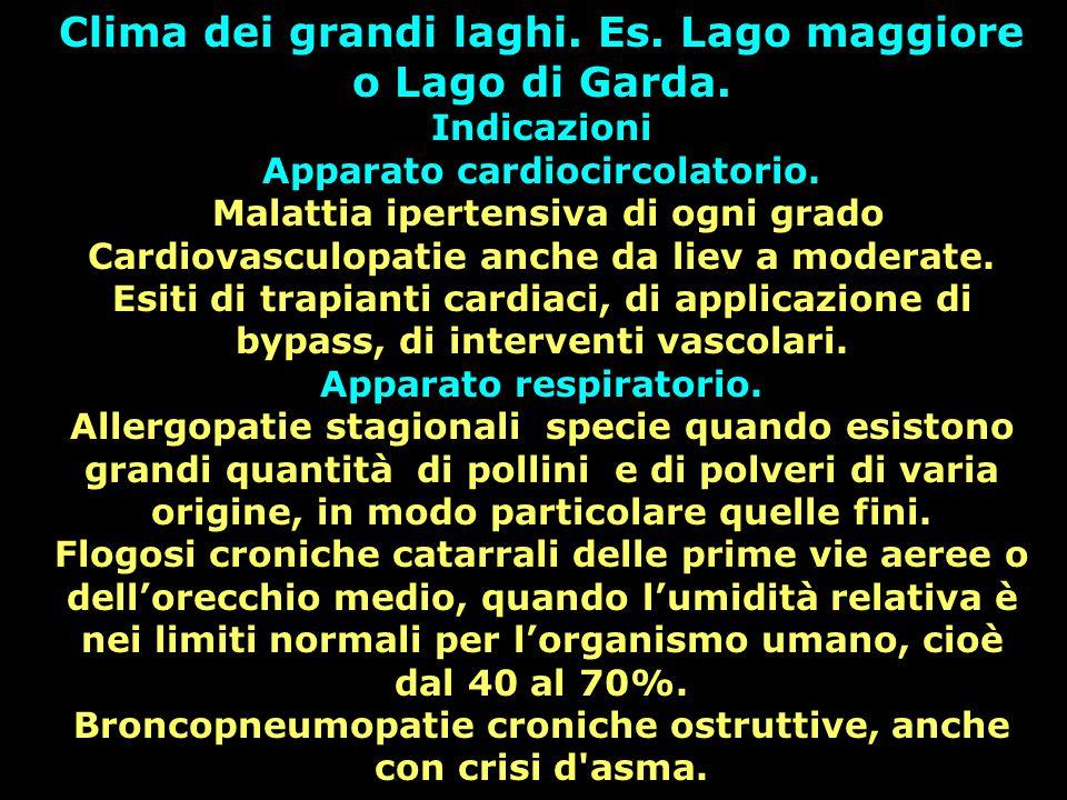 Clima dei grandi laghi. Es. Lago maggiore o Lago di Garda.