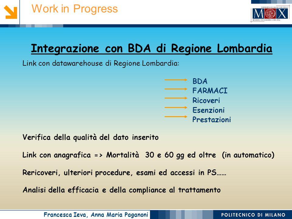 Integrazione con BDA di Regione Lombardia