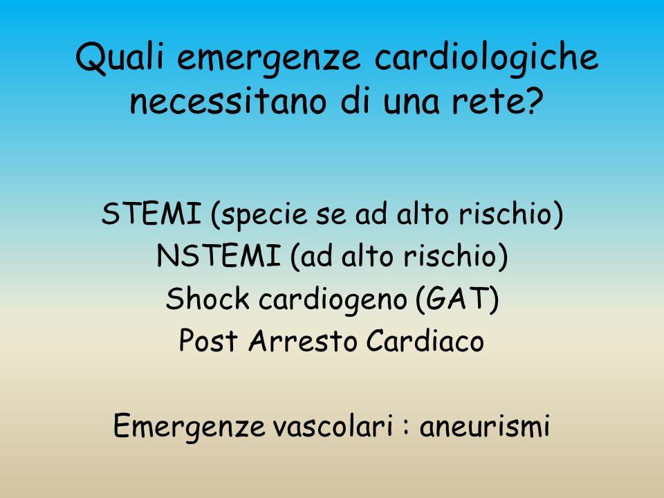 Quali emergenze cardiologiche necessitano di una rete