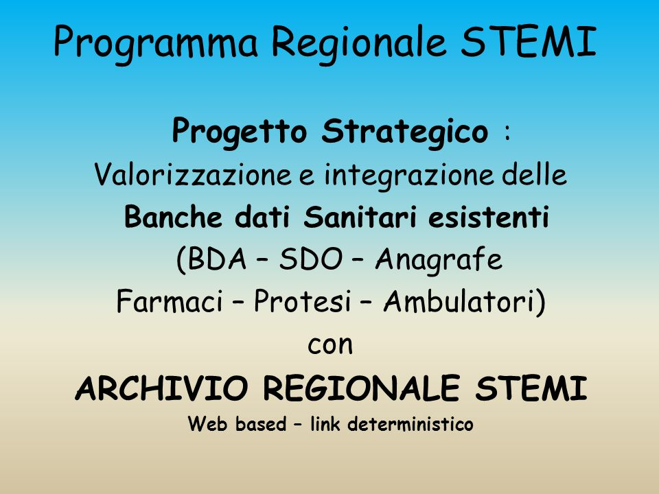 Programma Regionale STEMI