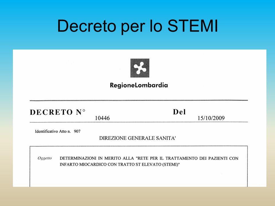 Decreto per lo STEMI