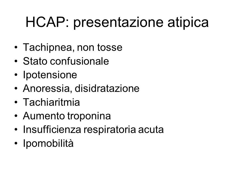 HCAP: presentazione atipica