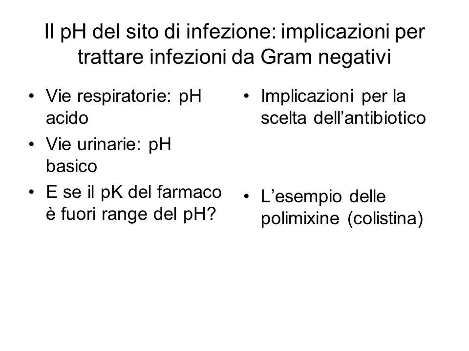 Il pH del sito di infezione: implicazioni per trattare infezioni da Gram negativi