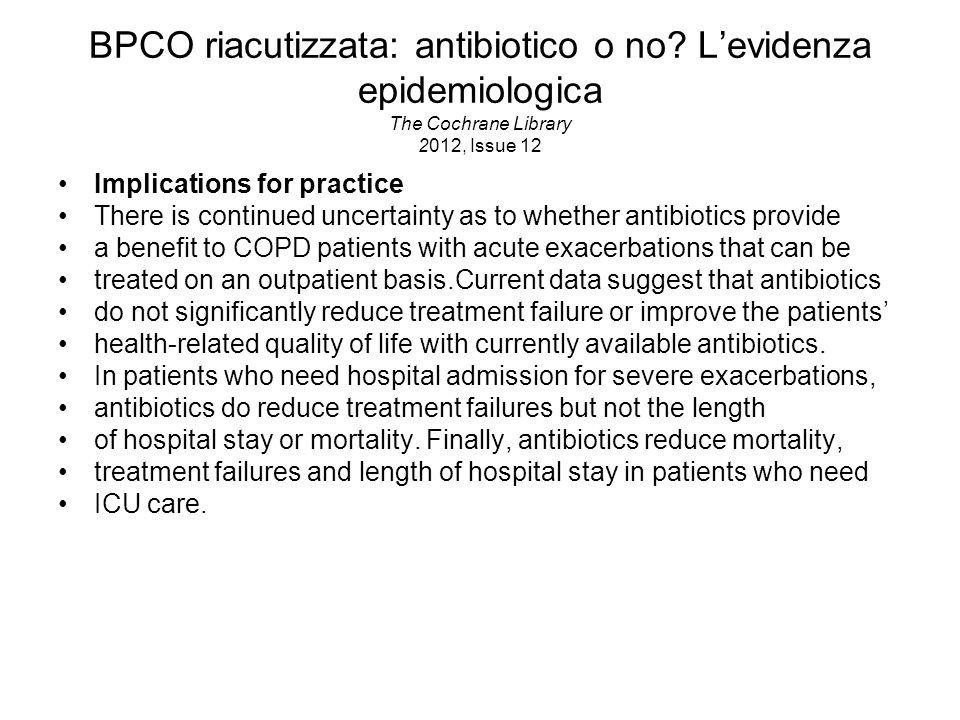 BPCO riacutizzata: antibiotico o no
