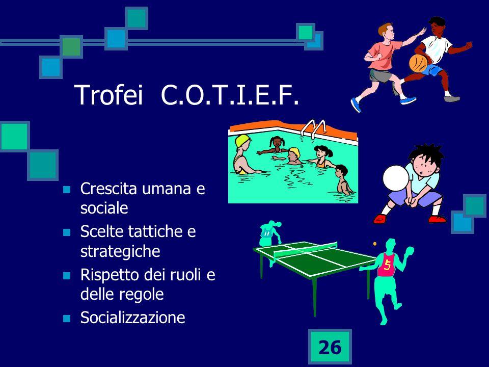 Trofei C.O.T.I.E.F. Crescita umana e sociale