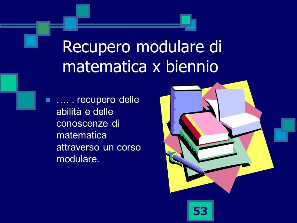 Recupero modulare di matematica x biennio